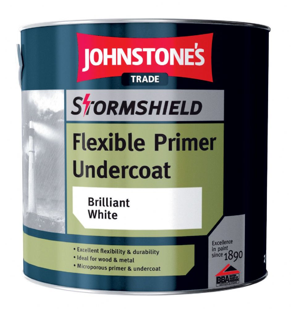Johnstone's Stormshield Flexible Undercoat Brilliant White 2.5 Litres